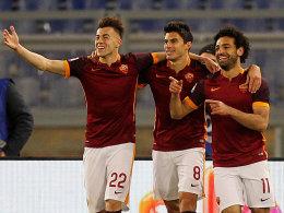 Stephan El Shaarawy, Diego Perotti und Mohamed Salah