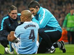 Er musste nach bereits sieben Minuten verletzungsbedingt ausgewechselt werden: Citys Vincent Kompany.