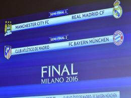 Bayern bei Atletico und ManCity gegen Real Madrid