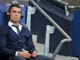 Wäre unter anderen Umständen auf dem Platz gestanden: Reals Cristiano Ronaldo in Manchester.