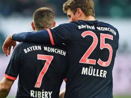Franck Ribery und Thomas Müller