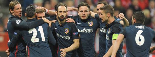 """Der """"Fischkutter"""" vereint: Atletico Madrid pr�sentiert sich als verschworene Truppe."""