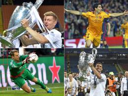 Toni Kroos, Luis Suarez, Manuel Neuer und Cristiano Ronaldo.