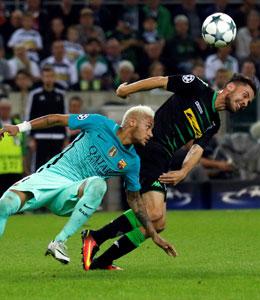 """""""Ich kannte ihn nur von der Playstation"""": Julian Korb über Gegenspieler Neymar."""