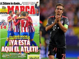 Die Marca-Titelseite am Donnerstag und Bayern-Kapitän Philipp Lahm