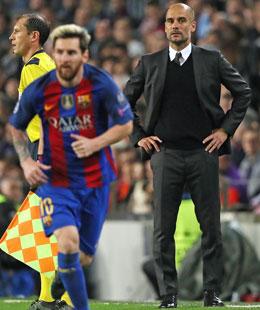 Da kann man nur staunen: ManCity-Trainer Pep Guardiola wurde von barcelona bitter abgestraft.