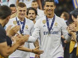 Mit an Bord: Cristiano Ronaldo und Kroos