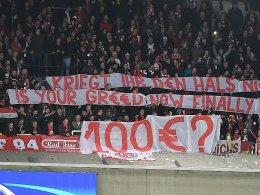 Bayern-Fans protestieren gegen Ticketpreise