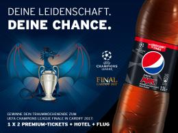 Mit Pepsi MAX und kicker zum Finale der UEFA Champions League