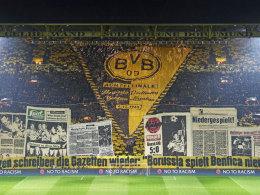 Mit kicker-Choreografie: BVB-Fans erinnern an 1963