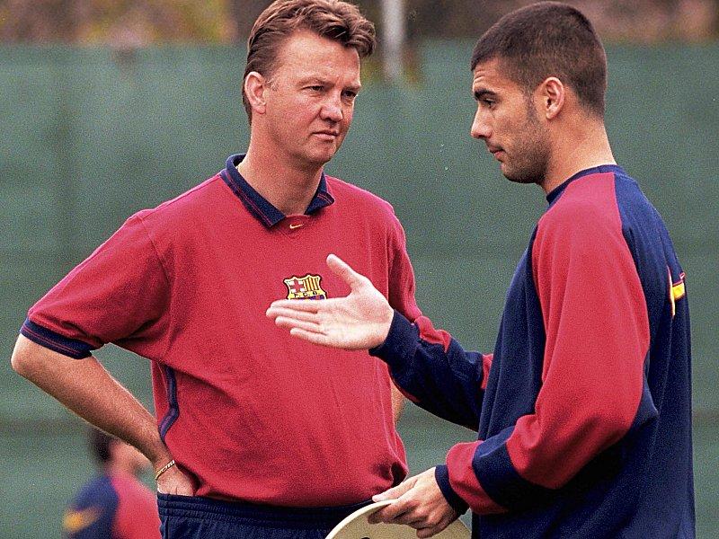 Louis van Gaal und Pep Guardiola