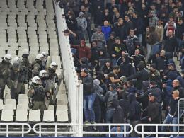 Ausschreitungen im Vorfeld der Partie in Athen