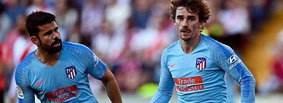 Diego Costa (li.) und Griezmann (re.)