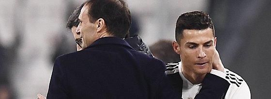 Massimiliano Allegri und Cristiano Ronaldo