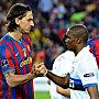 Zlatan Ibrahimovic und Samuel Eto'o (re.)