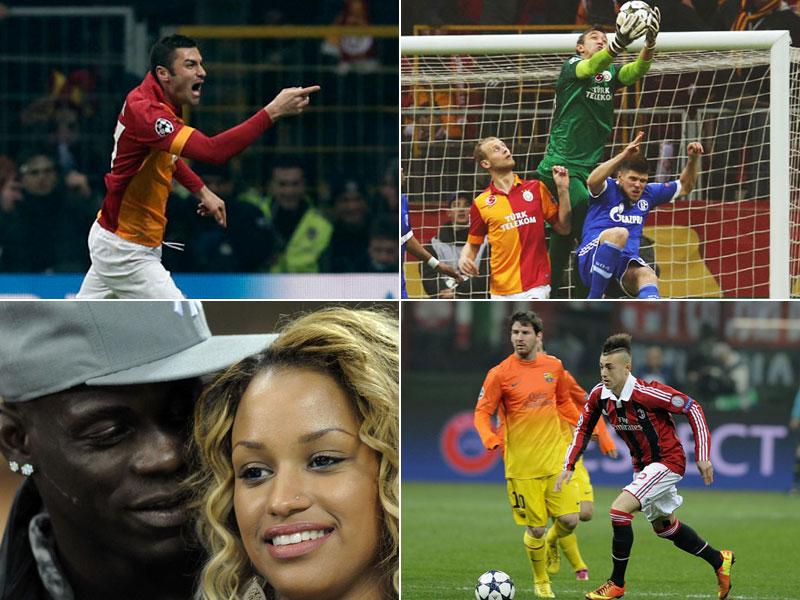 Bei den beiden Partien in Mailand (Milan versus Barcelona) und in Istanbul (Galatasaray versus Schalke) gab es reichlich was zu sehen.