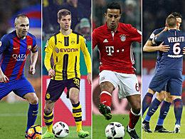Die Ballmagneten der Champions League: Thiago vor Thiago