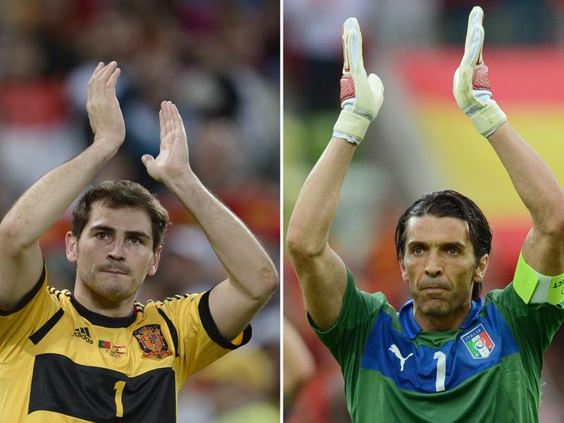 Zwei Welttorhüter unter sich: San Iker und Grande Gigi