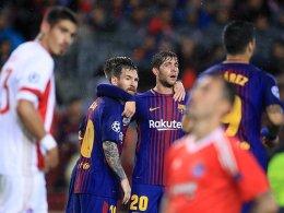 Piqué fliegt, aber Messi regelt das