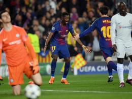 Böse bestraft: Jubilar Messi lässt Dembelés Knoten platzen