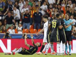 Trotz Rot für Ronaldo: Juve siegt in Valencia