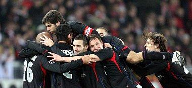 Olympique Lyon feiert den ersten Treffer