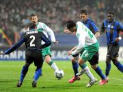 Goalgetter: Pizarro, rechts gegen Inters Cordoba, erzielte Bremens 1:0.