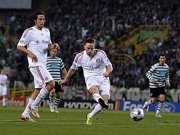 Fußball, Bayern München: Luca Toni und Franck Ribery