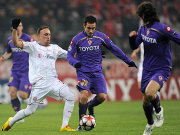 Immer zwei Mann gegen sich: Franck Ribery wurde von der Fiorentina meist gedoppelt.