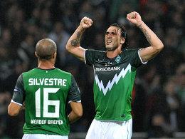 Leitete die Wende ein: Hugo Almeida brachte Werder wieder ins Spiel zurück.