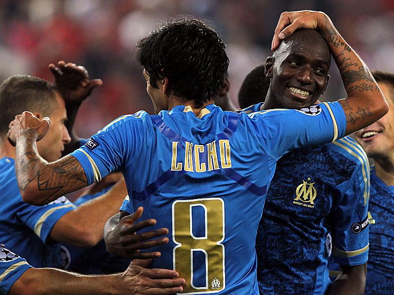 Marseille Lucho Gonzales feiert sein 1:0
