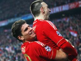 Gomez feiert mit Ribery