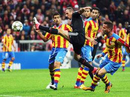 Ribery gegen drei Abwehrspieler