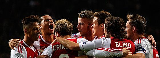 Ajax Amsterdam feiert