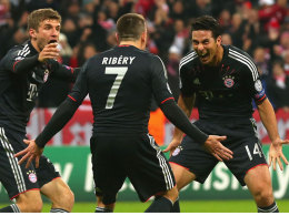 Müller, Ribery und Pizarro jubeln
