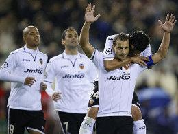 Sofiane Feghouli, Jonas, Roberto Soldado, Tino Costa (v.li.)