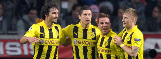 Mats Hummels, Robert Lewandowski, Mario Götze & Marco Reus.