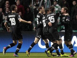 Juventus' Spieler jubeln