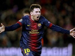 Jubel bei Messi: er stellte die Weichen auf Sieg.