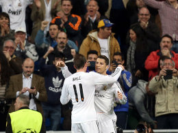 Cristiano Ronaldo jubelt mit Gareth Bale (beide Real Madrid)