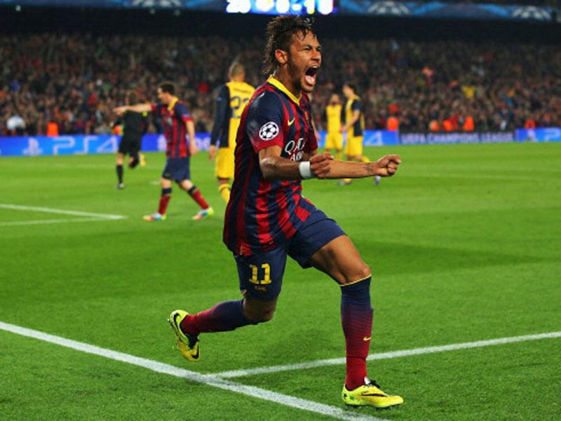 Befreiend: Neymar glückte nach wunderbarem Zuspiel von Iniesta der Ausgleich.