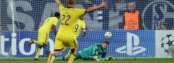 Bohar (verdeckt) hat das 0:1 erzielt.
