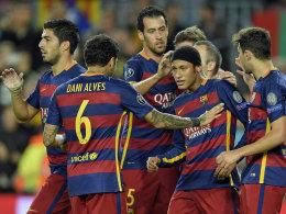 K�nstler Neymar und Vollstrecker Suarez erlegen Baryssau
