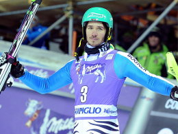 Beim nächtlichen Slalom in Madonna di Campiglio auf Rang zwei: Felix Neureuther.