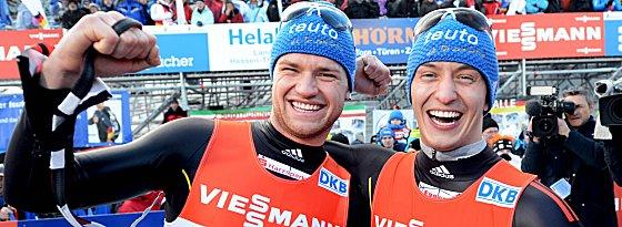 Strahlende Europameister: Toni Eggert und Sascha Benecken.