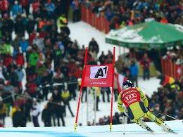 Ziel im Blick: Aksel Lund Svindal fährt im Super-G dem Sieg entgegen.
