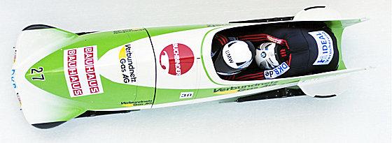 Weltmeister: Francesco Friedrich und Jannis Bäcker triumphierten im Zweier-Bob.
