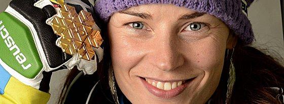 Tina Maze schnappte sich die erste Goldmedaille in Schladming.