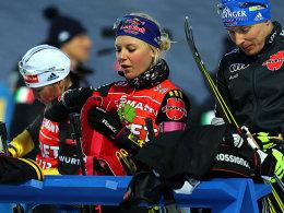 Andrea Henkel, Miriam Gössner und Andreas Birnbacher (v.li.)