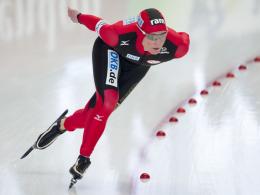 Mit Fieber, Husten und Halzschmerzen auf dem Eis unterwegs: Claudia Pechstein in Hamar.